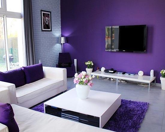 Bátran alkalmazzuk a lila színt a lakberendezésben!